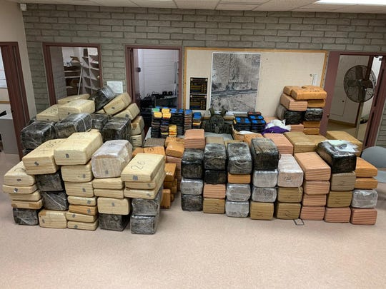 Maricopa County Sheriff's deputies and border agents seized $2 million of methamphetamine near Gila Bend.