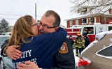 Newly retired York City Fire Chief David Michaels honored upon his homecoming following his last shift Friday, Feb. 1, 2019.