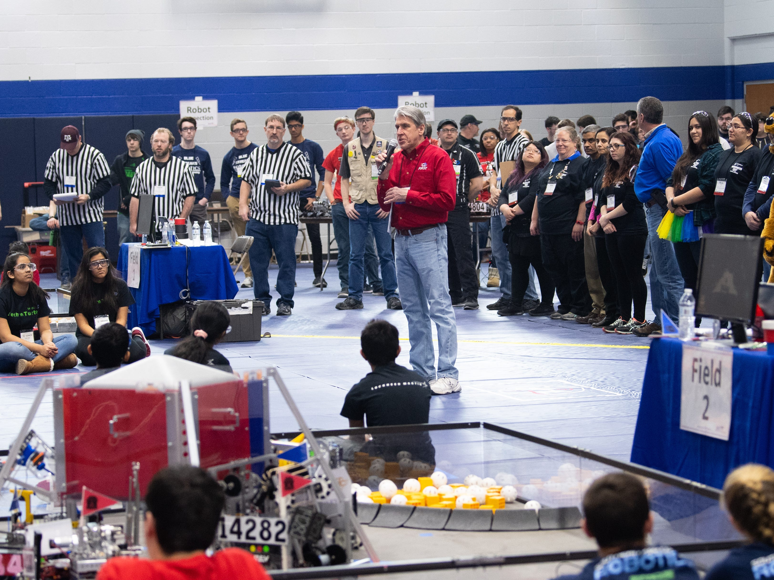 Penn State York hosted the South Central Pennsylvania Qualifier of the First Tech Challenge robotics competition, February 2, 2019.