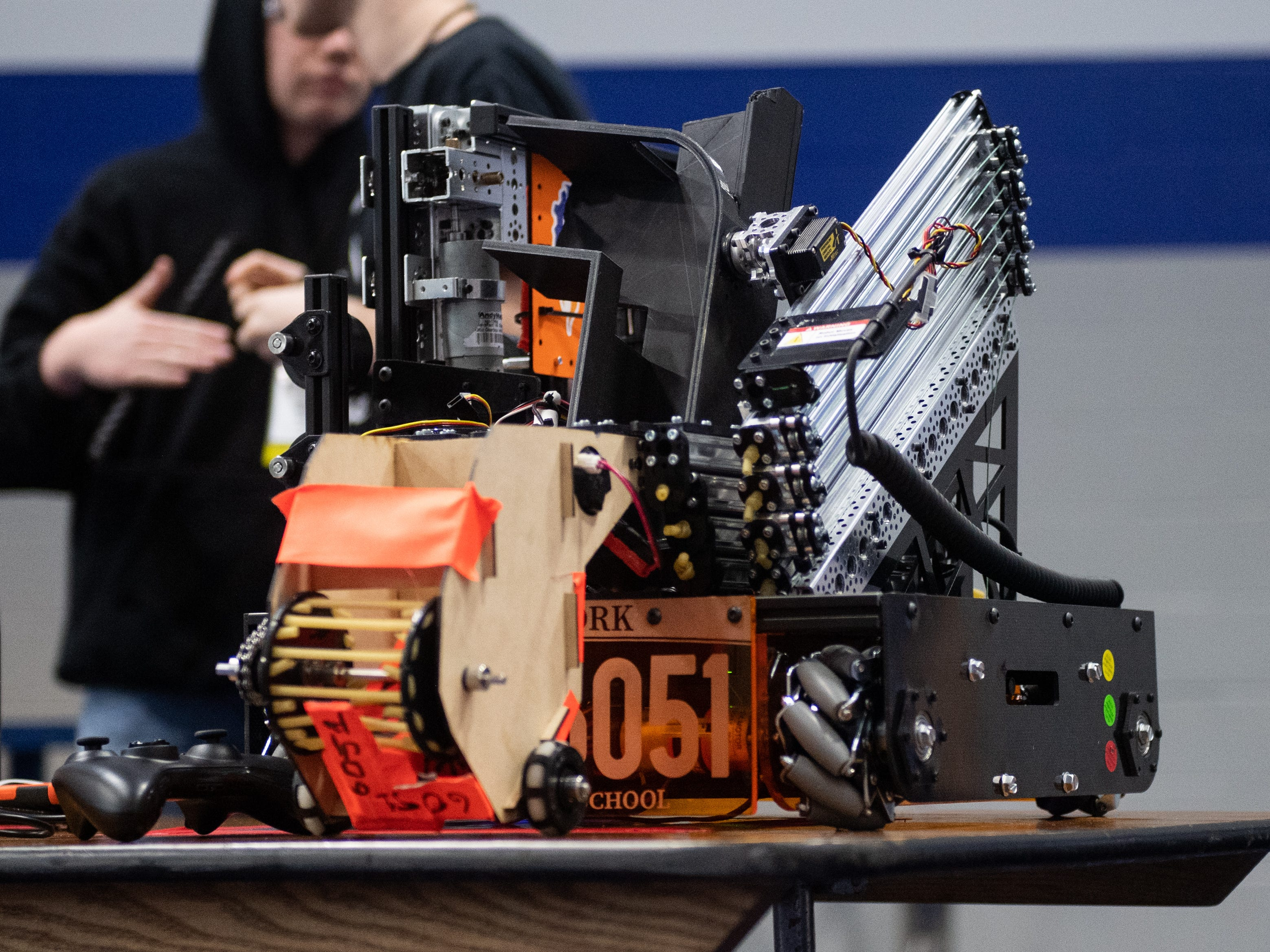 No two robots are the same at the First Tech Challenge robotics competition, February 2, 2019.