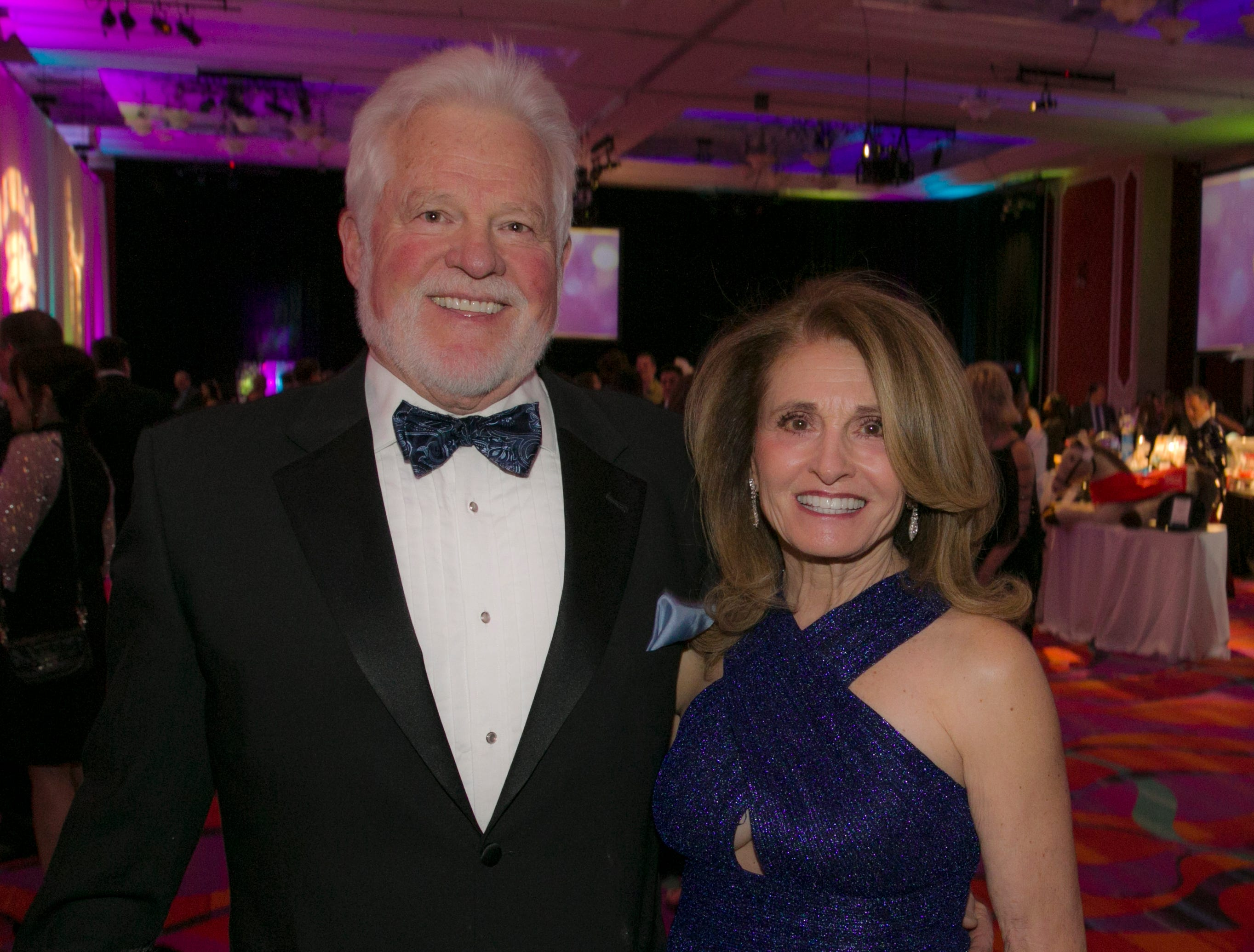 Kent and Kimberly Wood during the 10th Annual Blue Tie Ball at the Peppermill Resort Spa Casino in Reno, NV on Friday night, Feb. 1, 2019.
