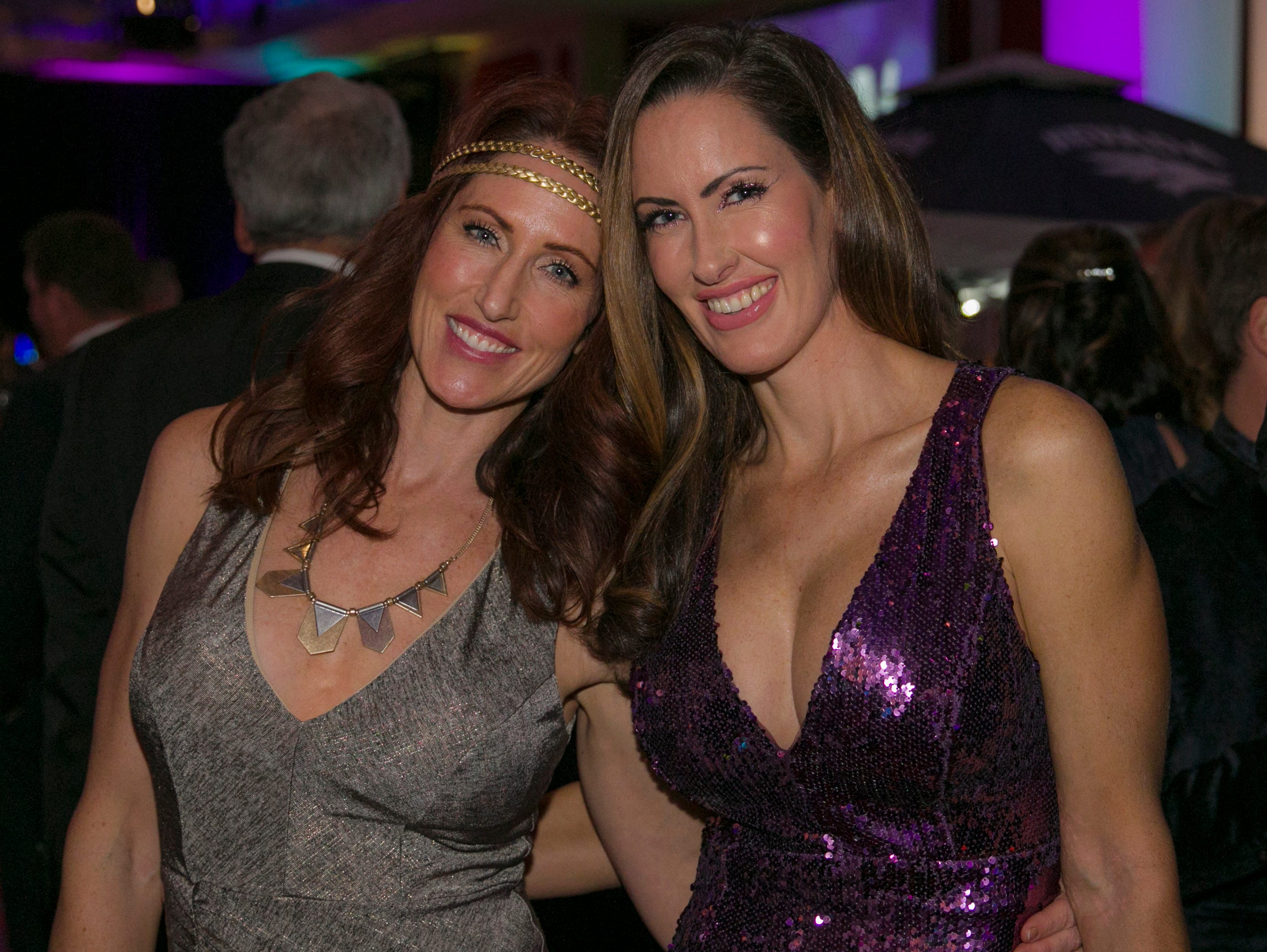 Hannah Argenal (wife of assistant basketball Gus) and her sister Kate during the 10th Annual Blue Tie Ball at the Peppermill Resort Spa Casino in Reno, NV on Friday night, Feb. 1, 2019.