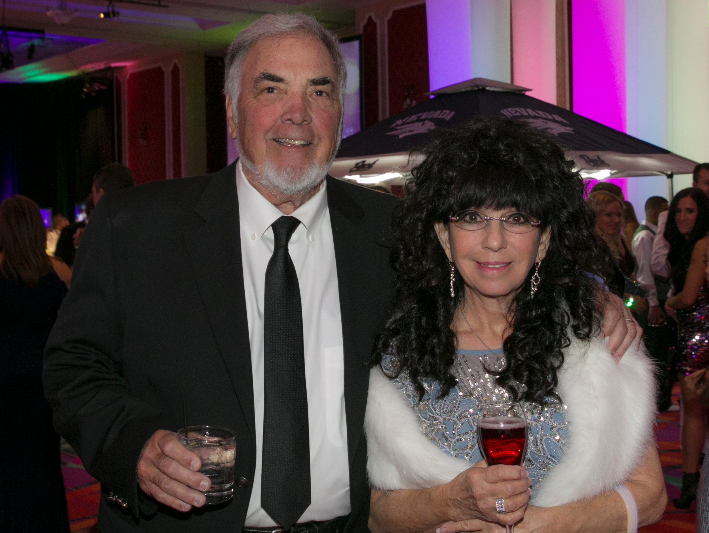 Dick and Mary Campagni during the 10th Annual Blue Tie Ball at the Peppermill Resort Spa Casino in Reno, NV on Friday night, Feb. 1, 2019.