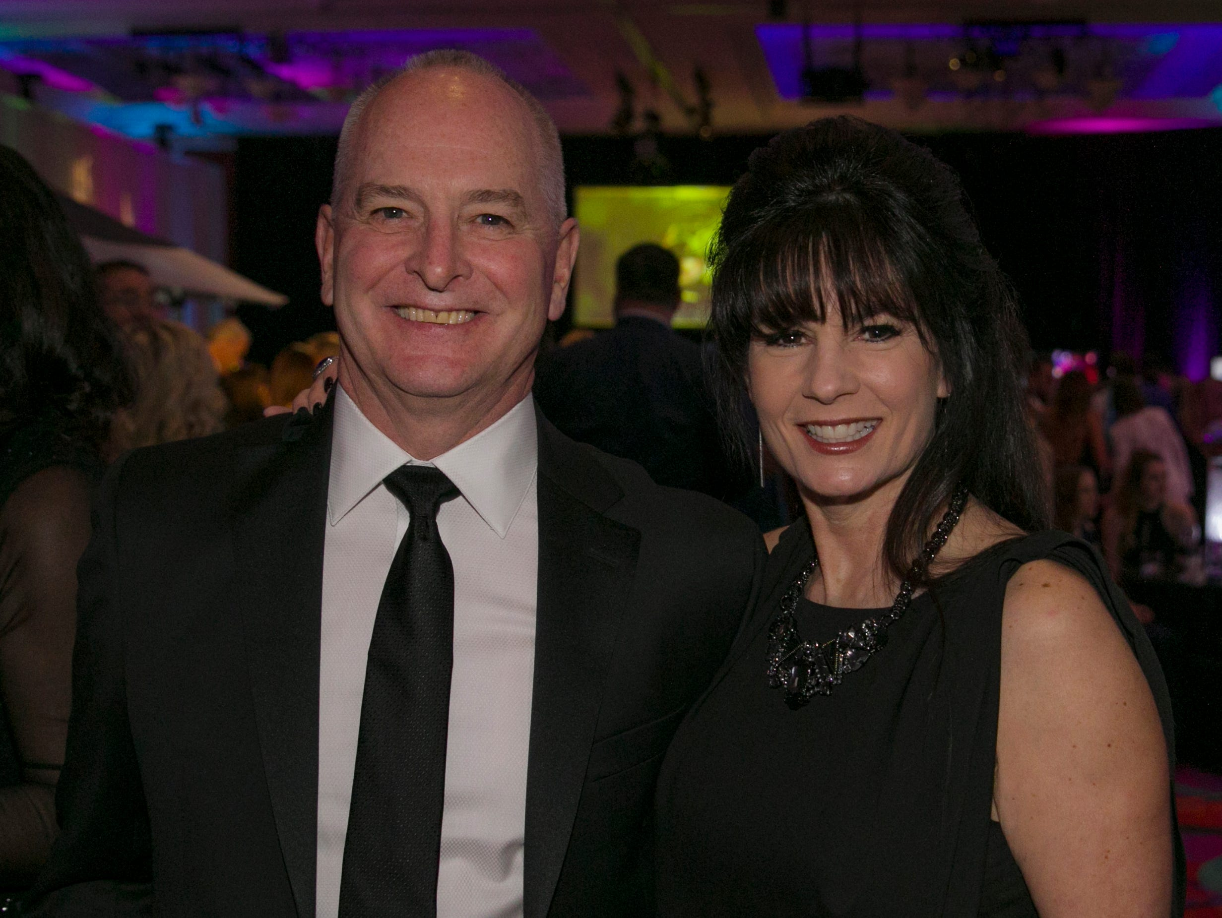 Bill and Liza Bradley during the 10th Annual Blue Tie Ball at the Peppermill Resort Spa Casino in Reno, NV on Friday night, Feb. 1, 2019.