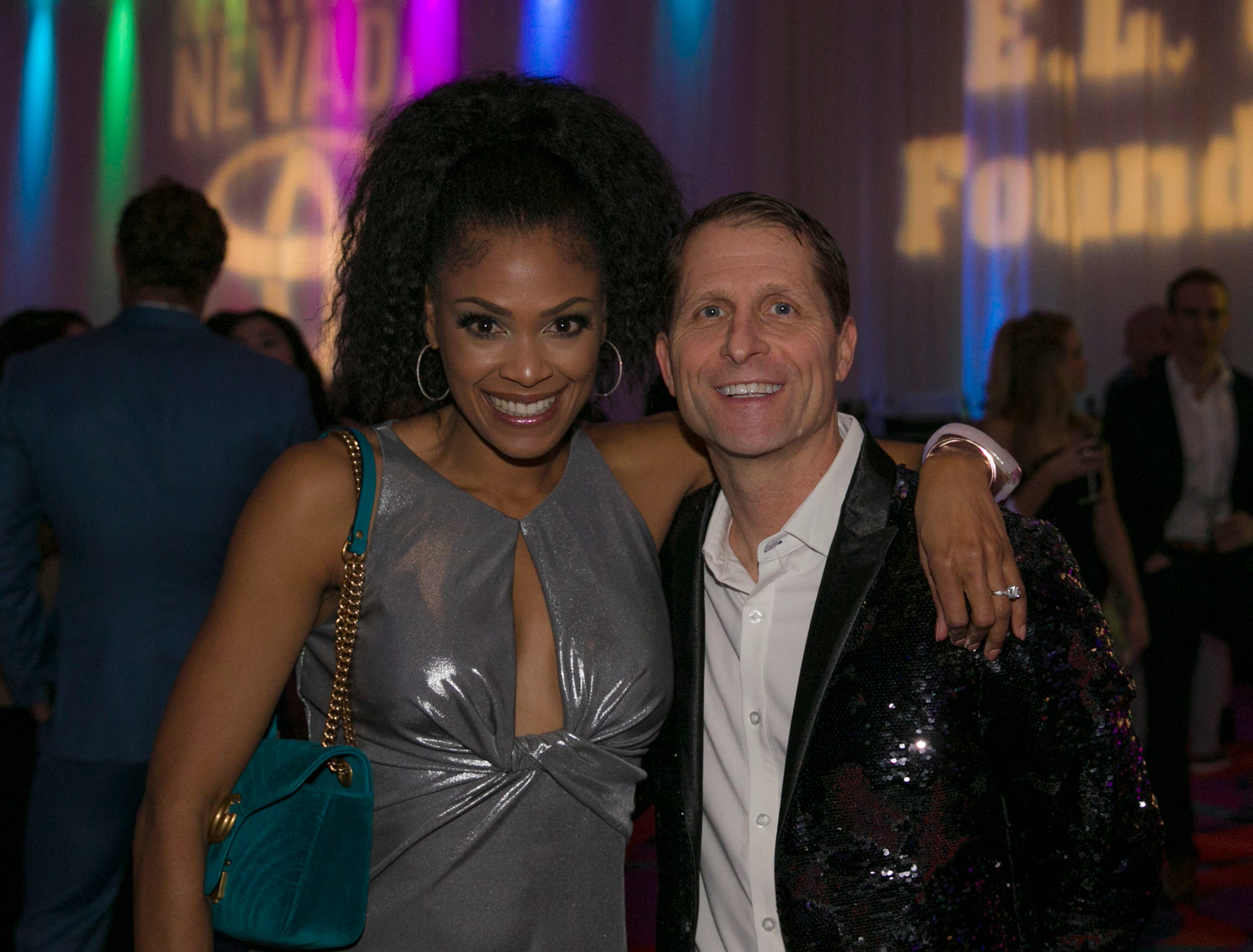 Nevada head basketball coach Eric Musselman and wife Danyelle during the 10th Annual Blue Tie Ball at the Peppermill Resort Spa Casino in Reno, NV on Friday night, Feb. 1, 2019.