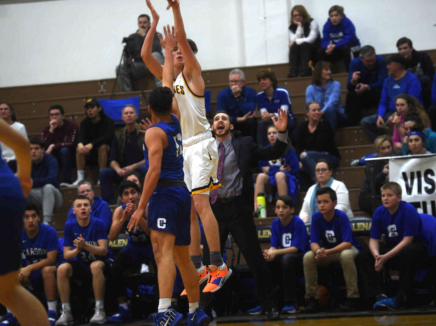 Galena takes on Carson during their basketball game in Reno on Feb. 1, 2019.