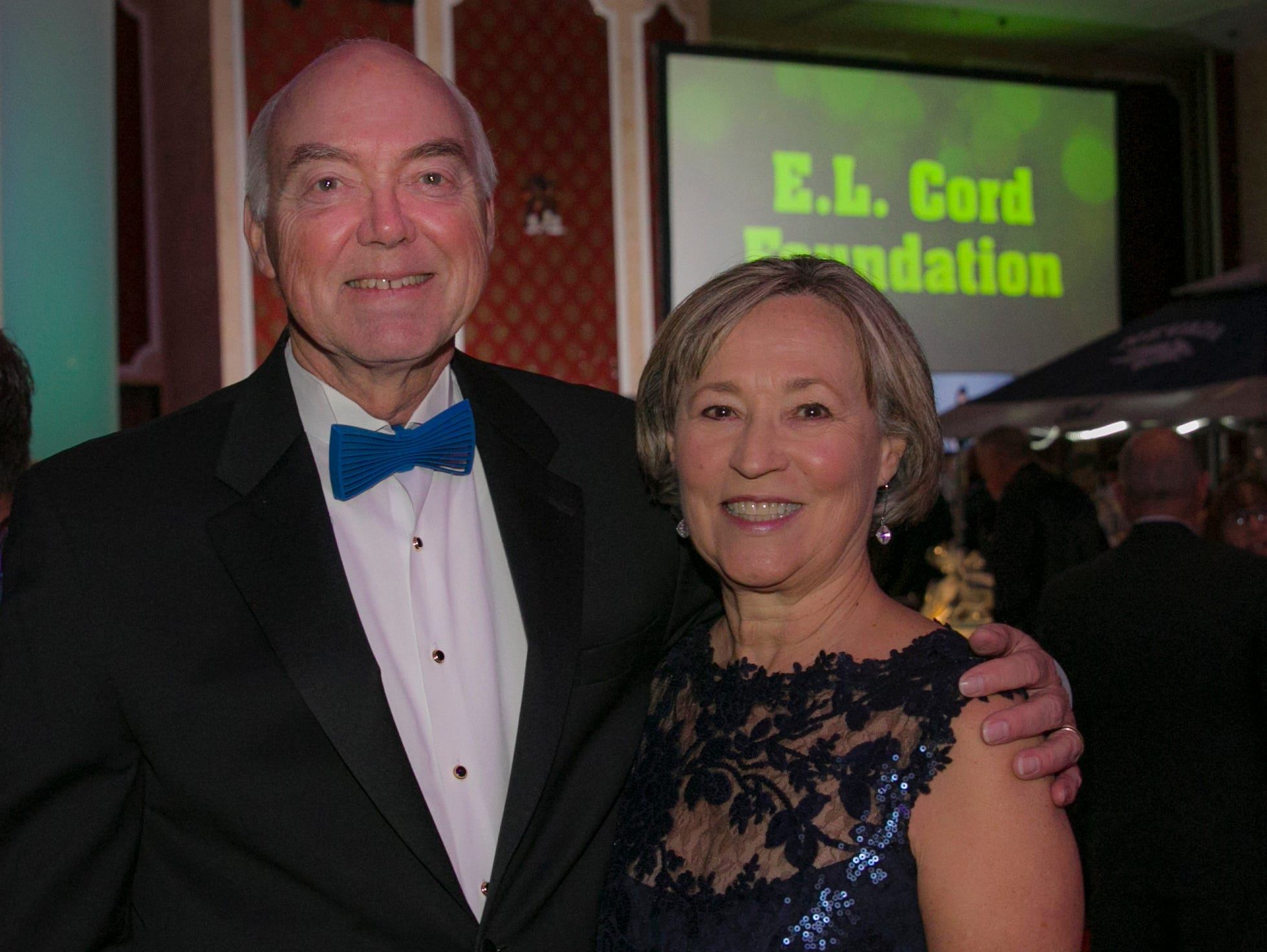 University of Nevada President Marc Johnson and wife Dr. Karen Penner-Johnson during the 10th Annual Blue Tie Ball at the Peppermill Resort Spa Casino in Reno, NV on Friday night, Feb. 1, 2019.