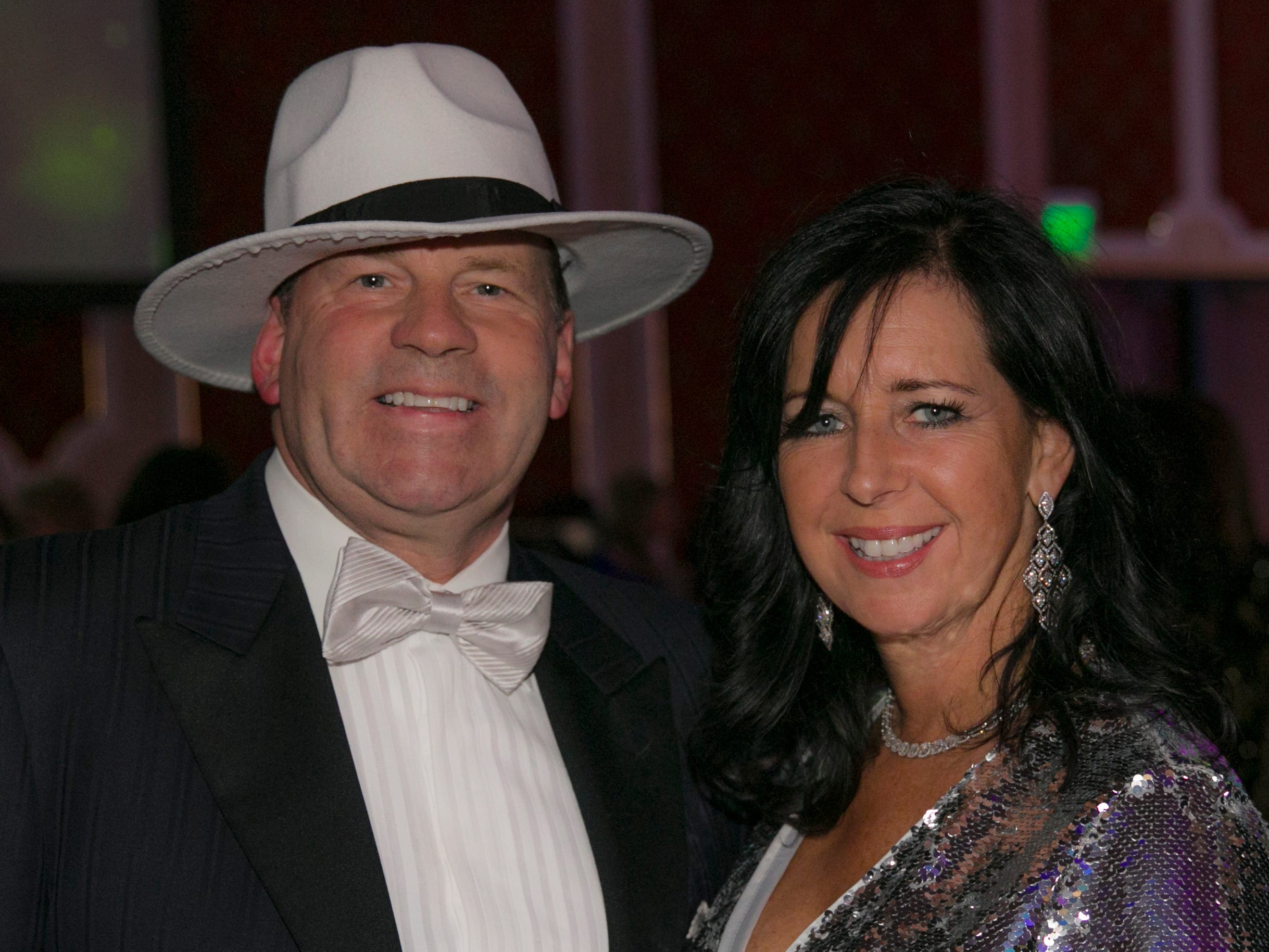 Dr. James Lynch and wife Caroline during the 10th Annual Blue Tie Ball at the Peppermill Resort Spa Casino in Reno, NV on Friday night, Feb. 1, 2019.