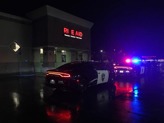 Redding police investigate a robbery Friday, Feb. 1, 2019 at the Rite Aid pharmacy on East Cypress Avenue.