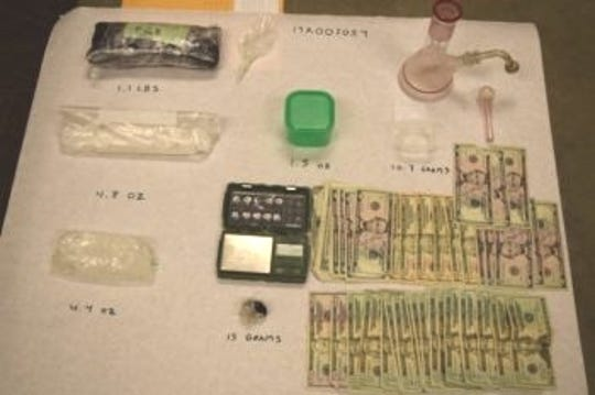 Authorities said they found about 1.5 pounds of methamphetamine, 15 grams of heroin, a digital gram scale and other evidence linked to drug sales in a search of a Redding motel room where sex offender Robert Rodeski was staying.