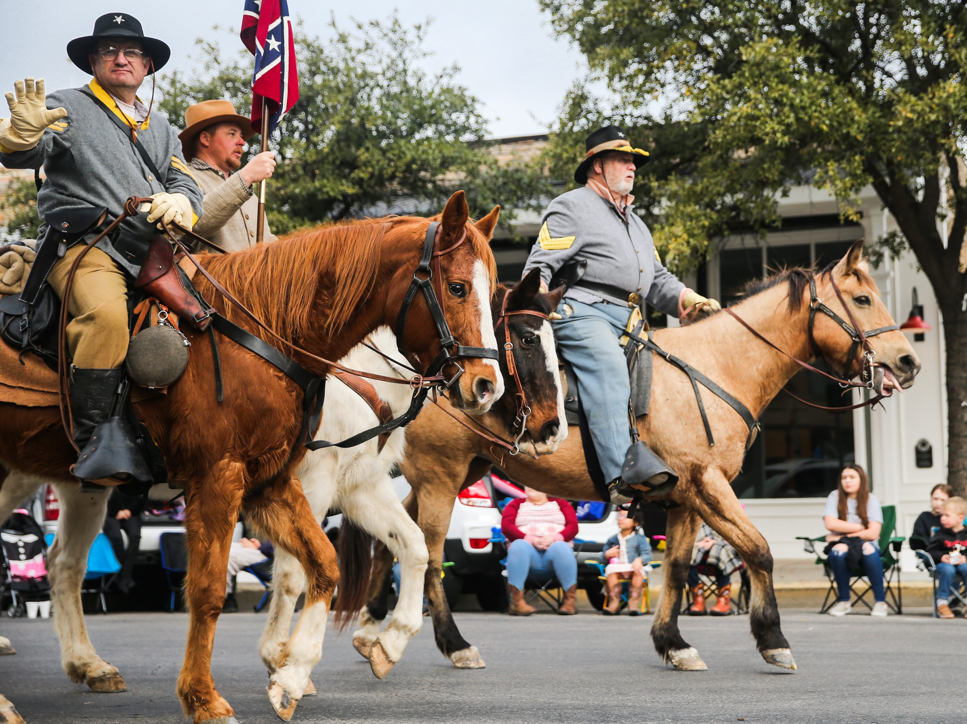 Horsemen ride during the San Angelo Stock Show and Rodeo Parade to start Saturday, Feb. 2, 2019, in downtown San Angelo.