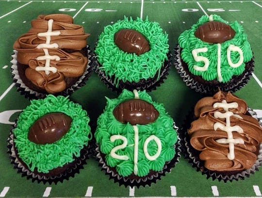Half Baked's Super Bowl cupcakes