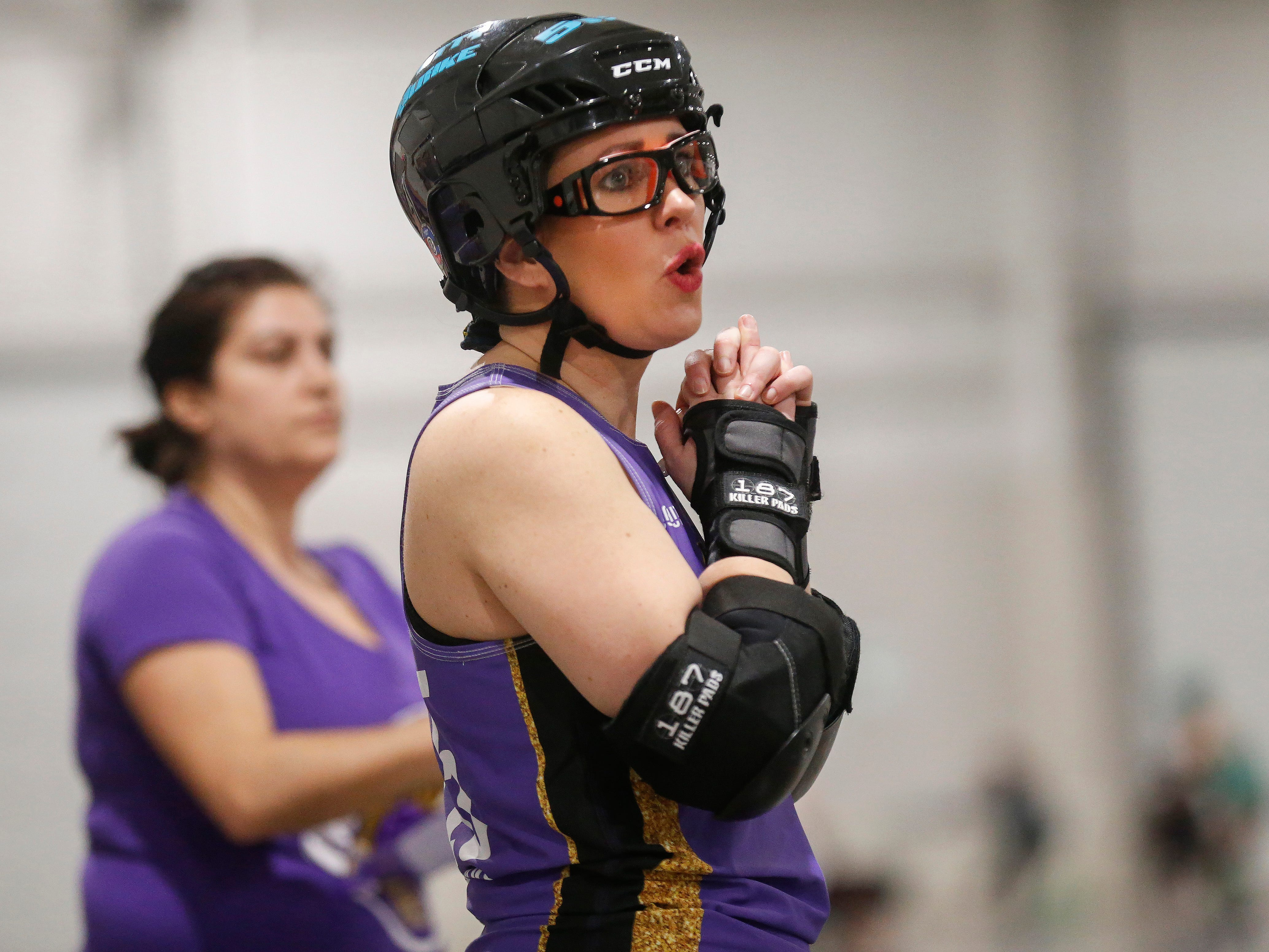 Fountain City (in  blue tops) defeated South Jersey in their first game of the 2019 Roller Derby M.A.D.E. Nationals at the Ozark Empire Fairgrounds on Saturday, Feb. 2, 2019.