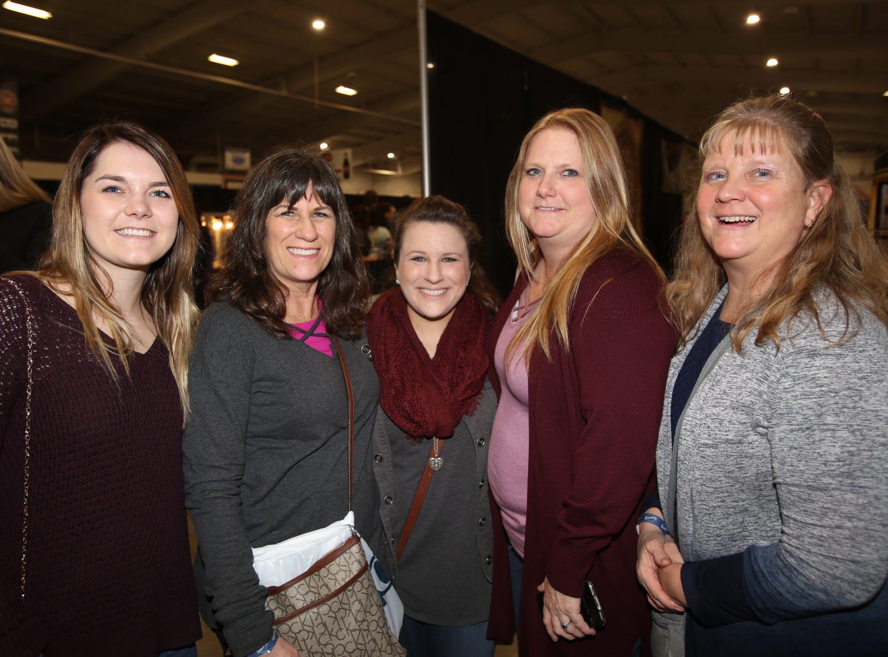 Sarah Godfrey, Janet Glor, Danielle McCrickard, Kristine Pope, and Mary Seiner