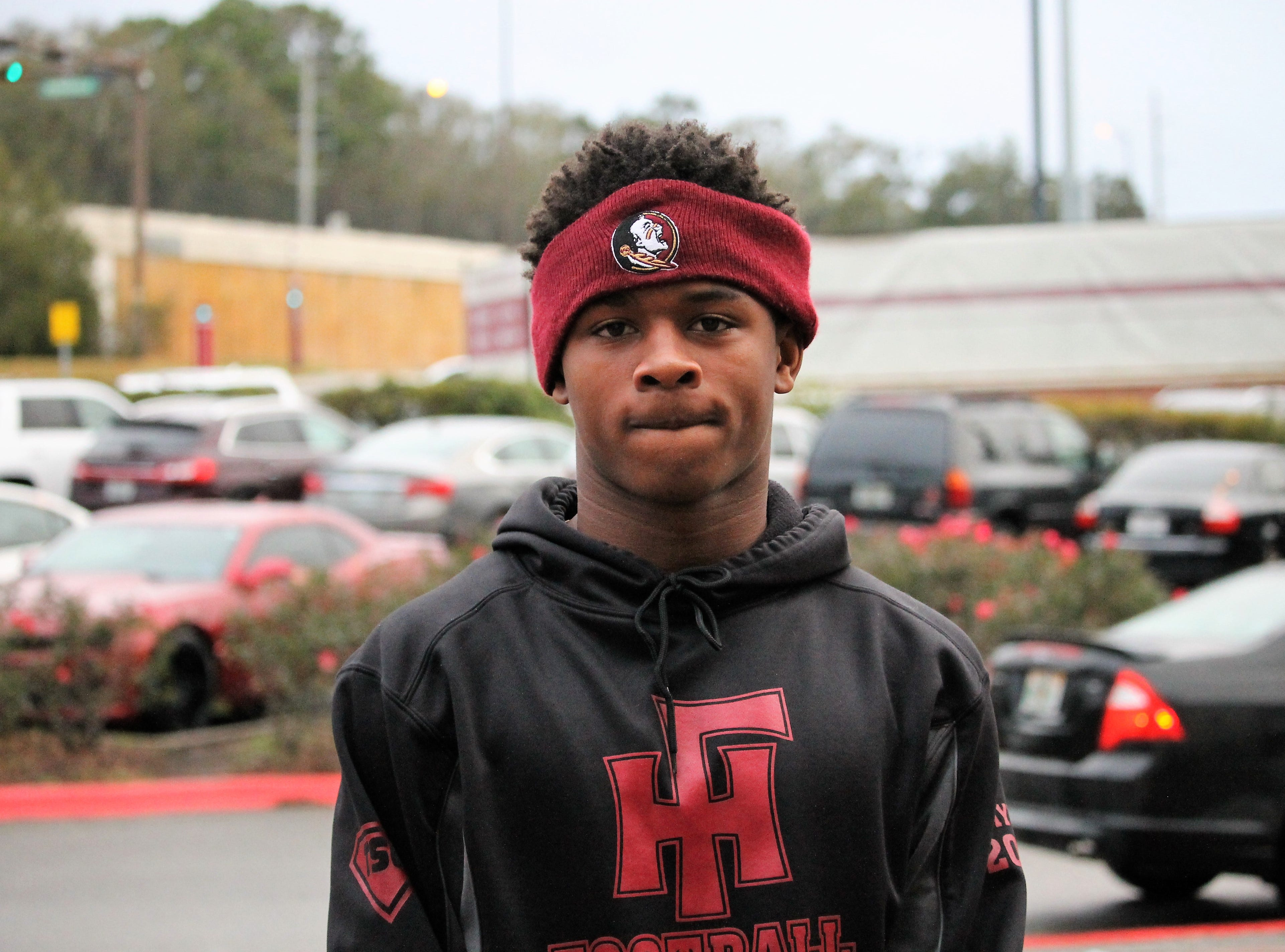 2021 safety Ahmari Harvey at FSU junior day on Feb. 2, 2019