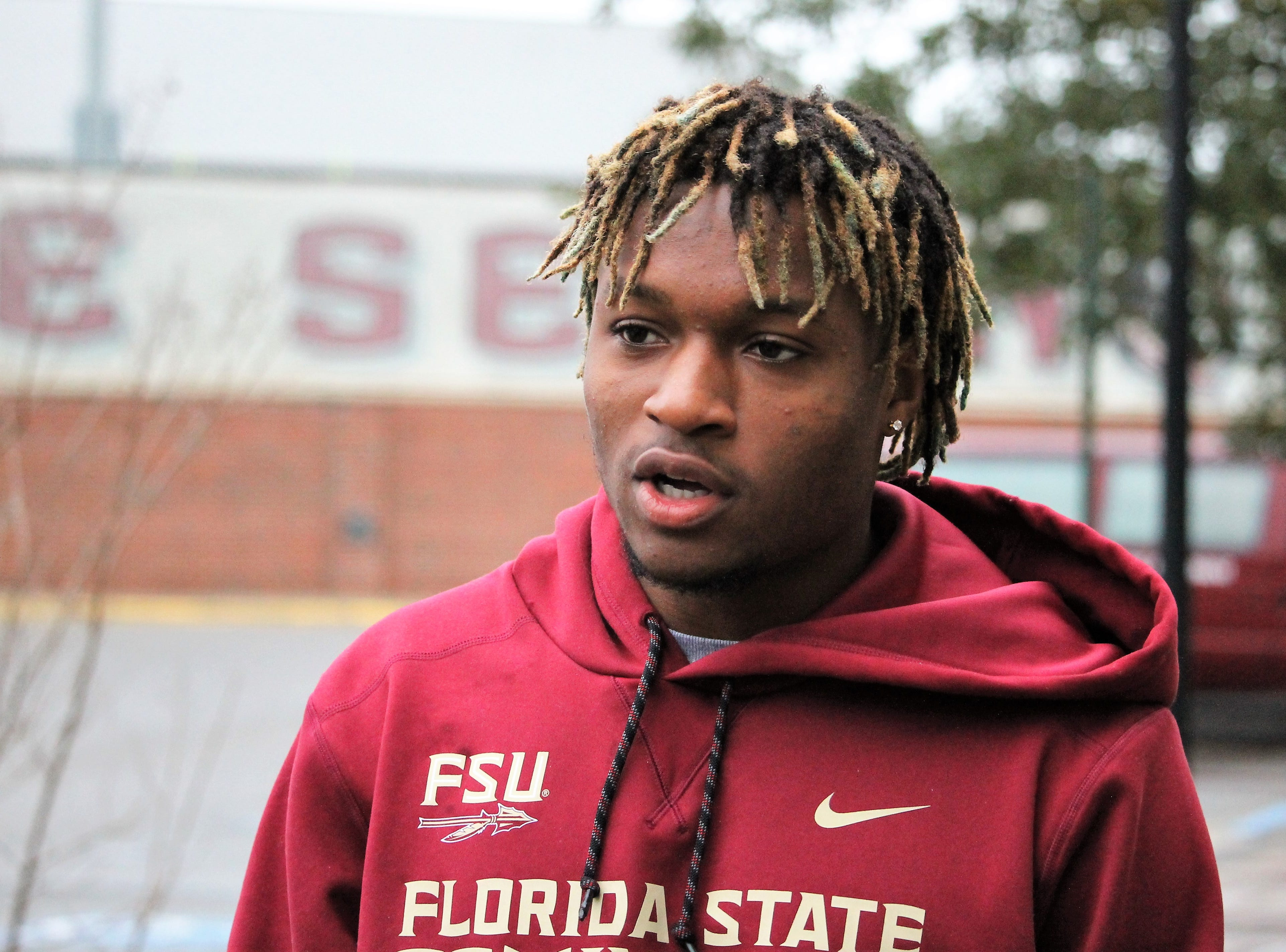 2020 wide receiver Marcus Clark at FSU junior day on Feb. 2, 2019.