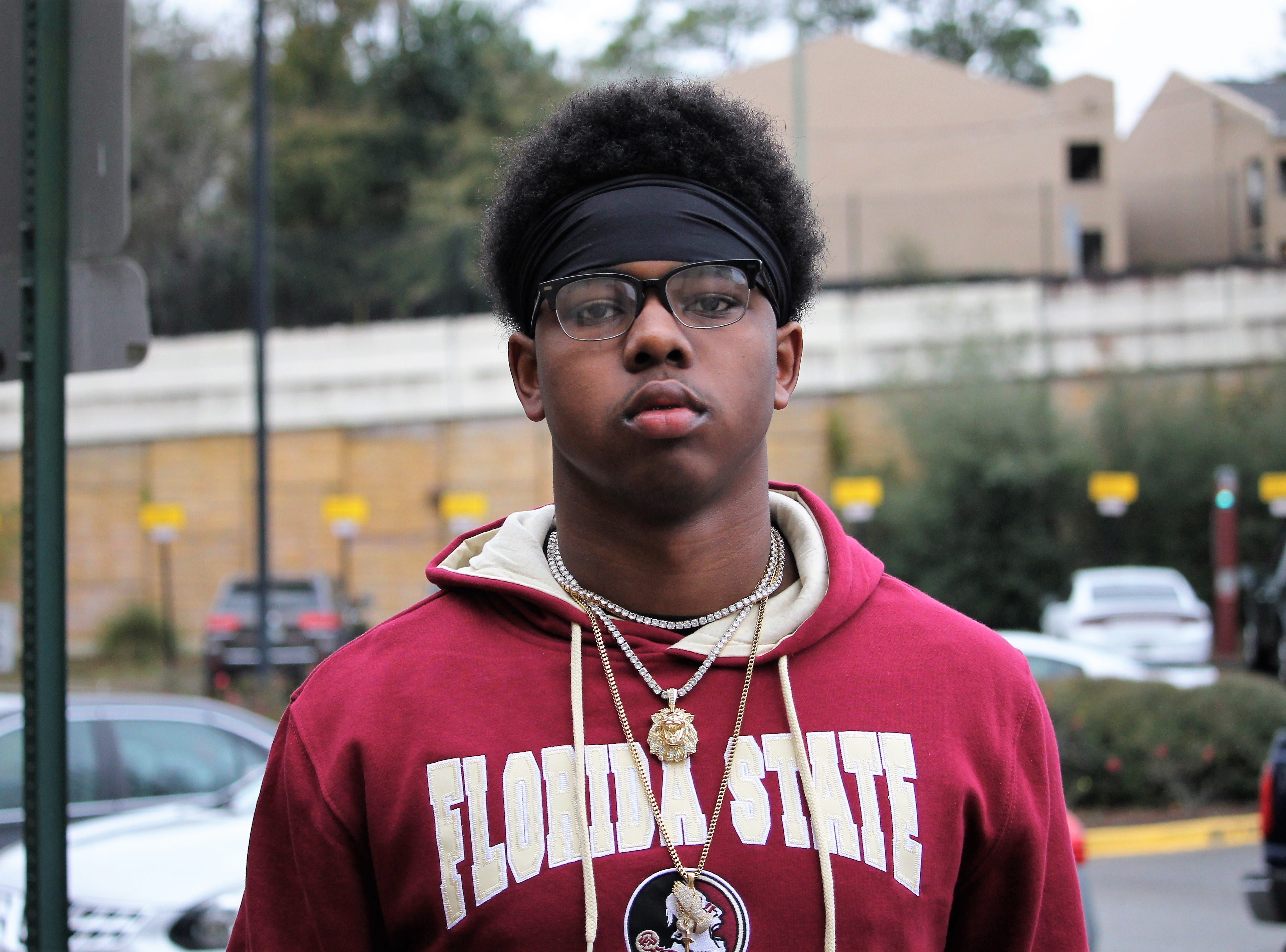 2020 four-star outside linebacker Jaylen Harrell at FSU junior day on Feb. 2, 2019