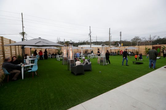 The outdoor area of the new Proof Brewery during their soft opening Friday, Feb. 1, 2019.
