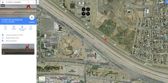 This image from Google shows the area identified by the FBI as the location of the shooting.
