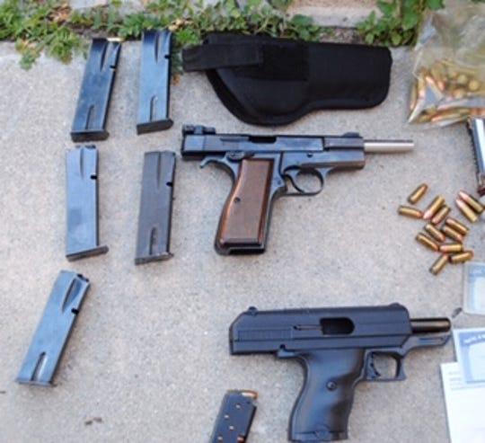 Firearms seized by Fillmore deputies during a search warrant last week.