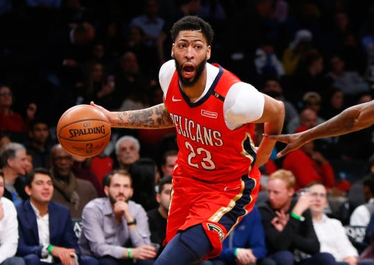 Anthony Davis (23) asked to be traded from the New Orleans Pelicans.