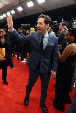 Paul Rudd arrives at the 8th annual NFL Honors at The Fox Theatre on Saturday, Feb. 2, 2019, in Atlanta.