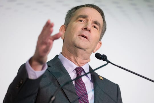 Virginia Gov. Ralph Northam speaks at an announcement on Amazon Inc.'s new second headquarters in Pentagon City, Arlington, Virginia,