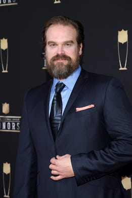 David Harbour attends the 8th Annual NFL Honors at The Fox Theatre on February 02, 2019 in Atlanta, Georgia.