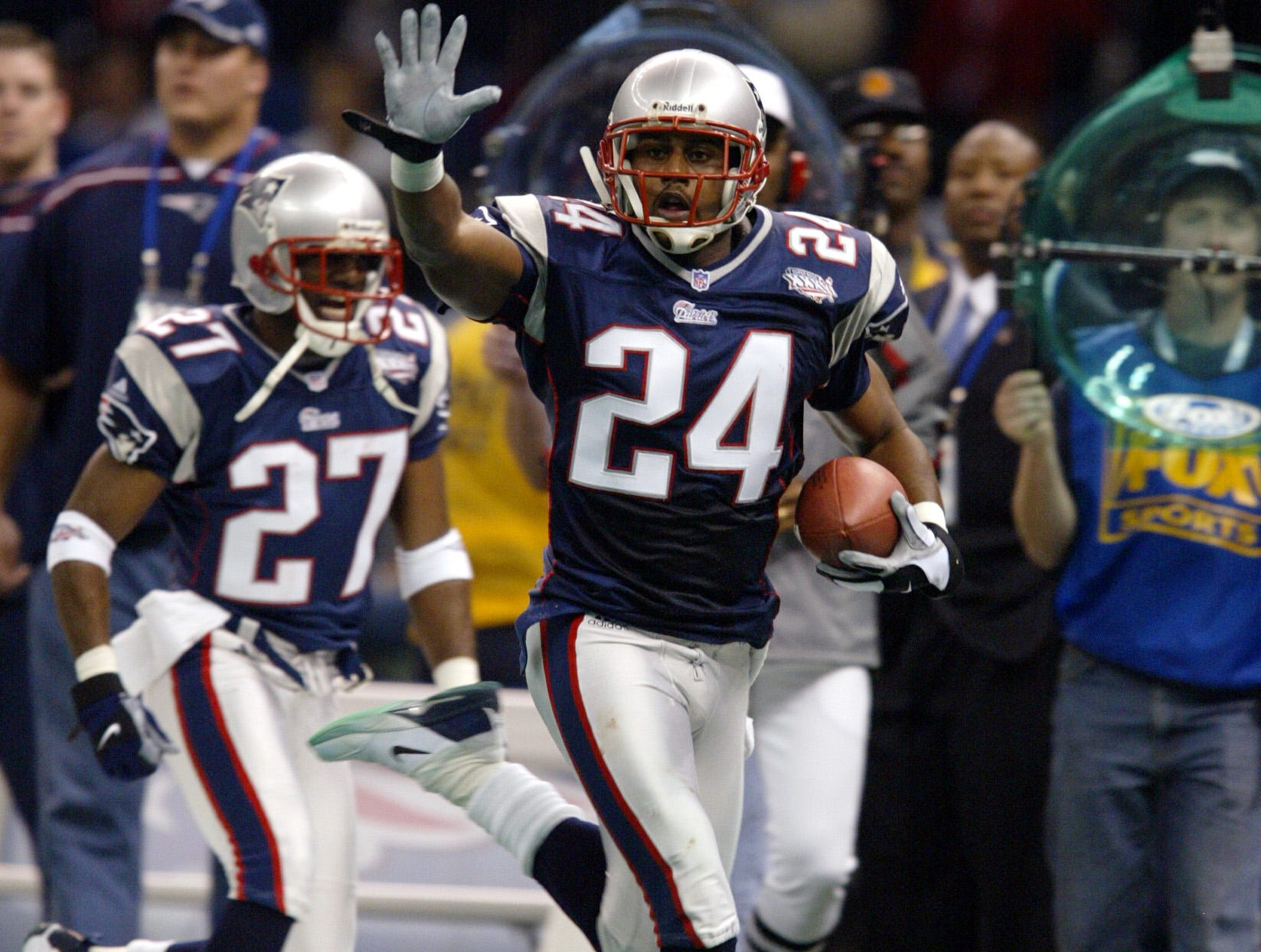 Ty Law was a five-time Pro Bowl selection and two-time all-pro who won three Super Bowls with the Patriots. He retired with 53 career interceptions.