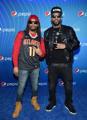 "Lil Jon (L) and Drumma Boy attend ""Planet Pepsi"" Pre-Super Bowl LIII party, featuring Travis Scott, on February 1, 2019 in Atlanta, Georgia."