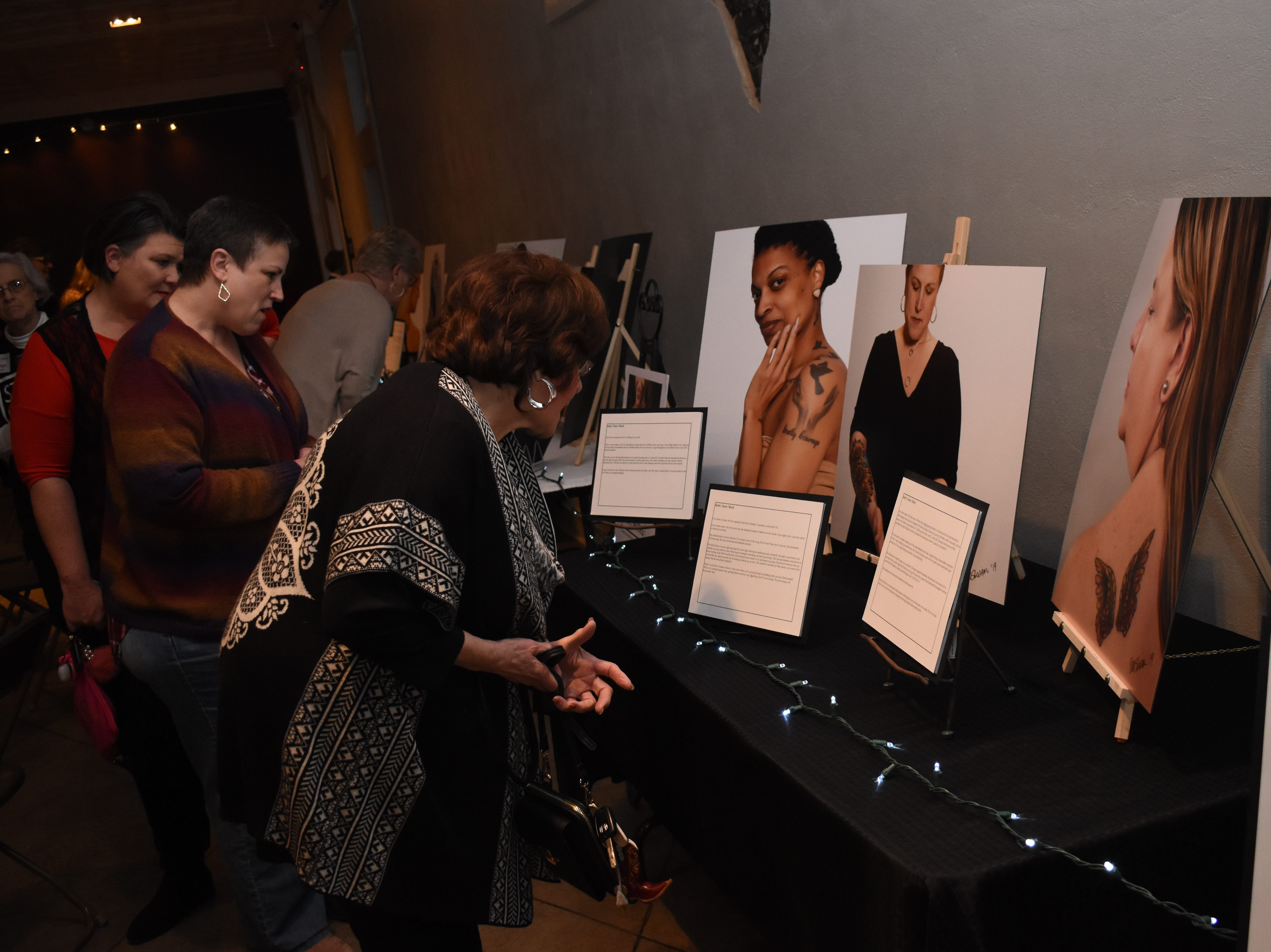 """Story Marks,"" an event highlighting women who have tattoos and the stories behind them was held Friday, Feb. 1, 2019 at Willowbench Meeting Place in Pineville.