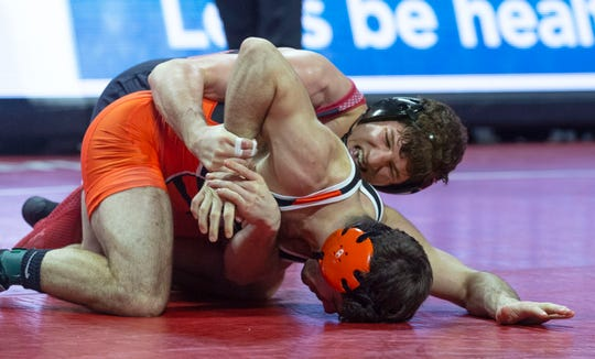 Rutgers' Anthony Ashnault (top) defeated Princeton's Matthew Kolodzik 10-2 in a much-anticipated bout between the No. 1 and 2 ranked wrestlers in the country Sunday afternoon.
