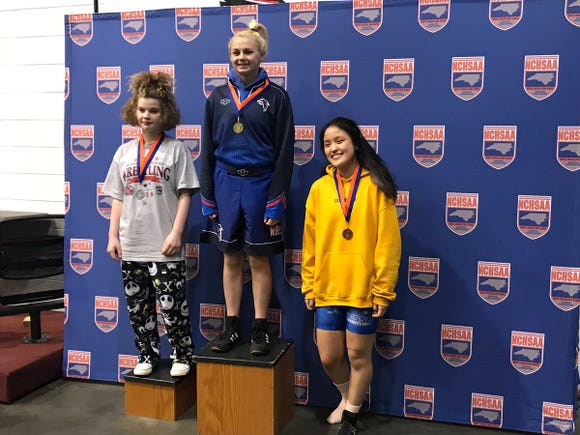 West Henderson's Destiny Cairnes took first place in the 132-pound division Saturday