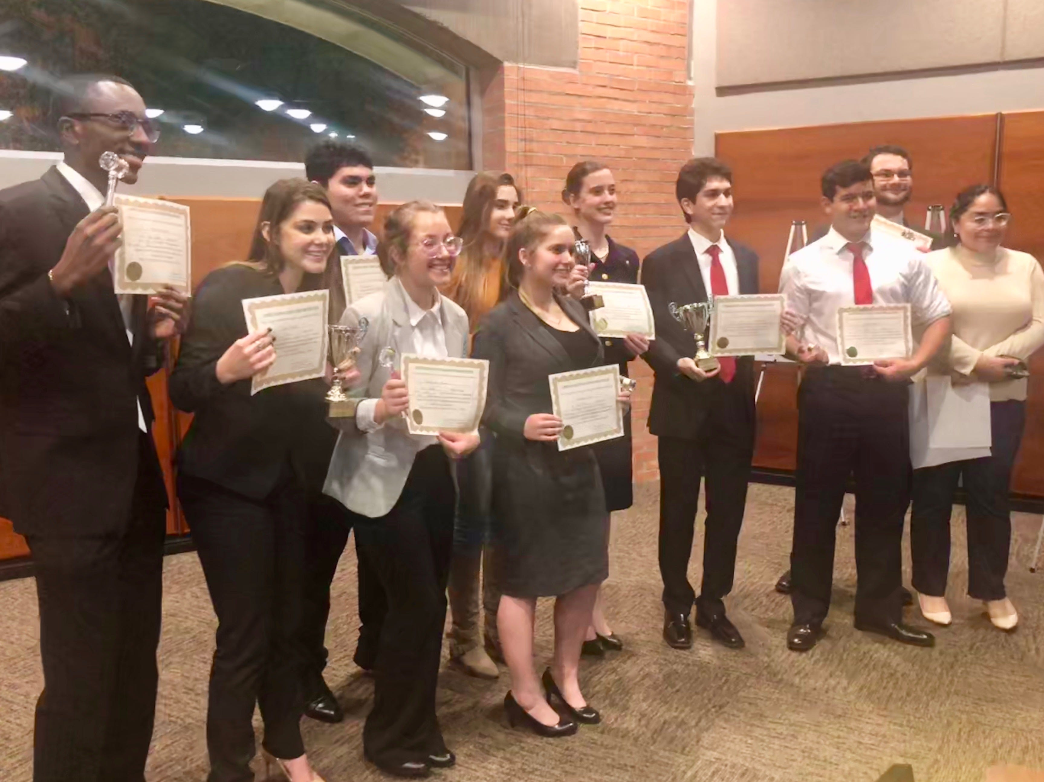 Scholarships were given to several students following the 2019 mock trial competition.