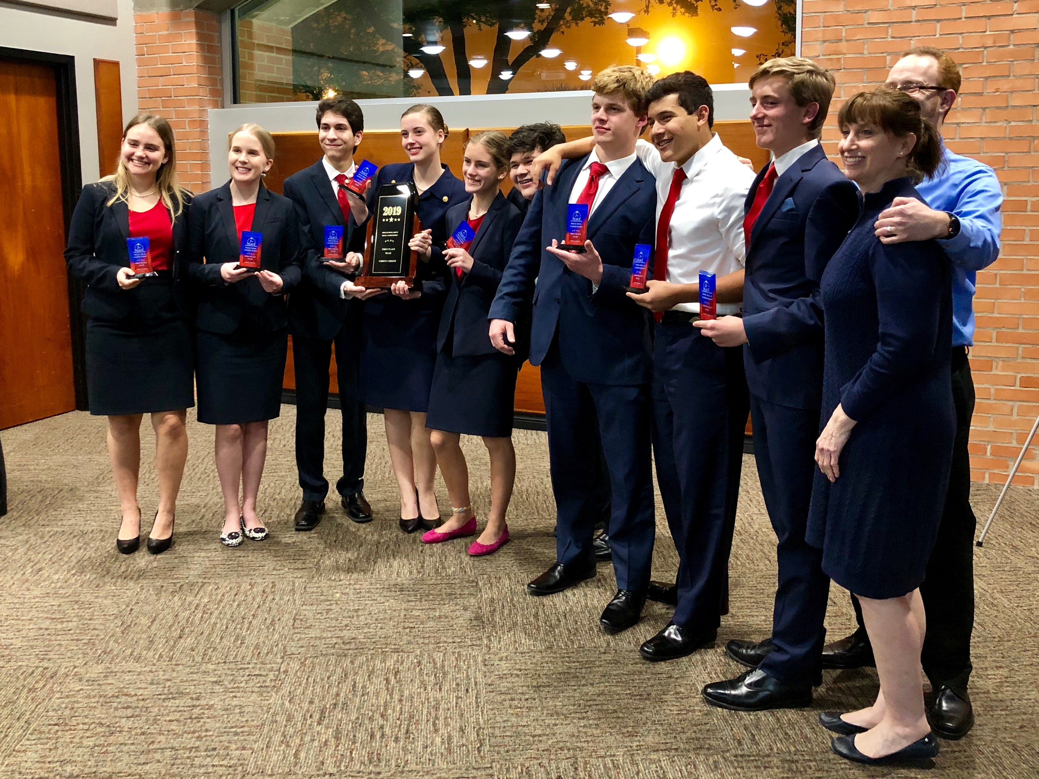 Students from Ray High School placed first in the 2019 mock trial competition.