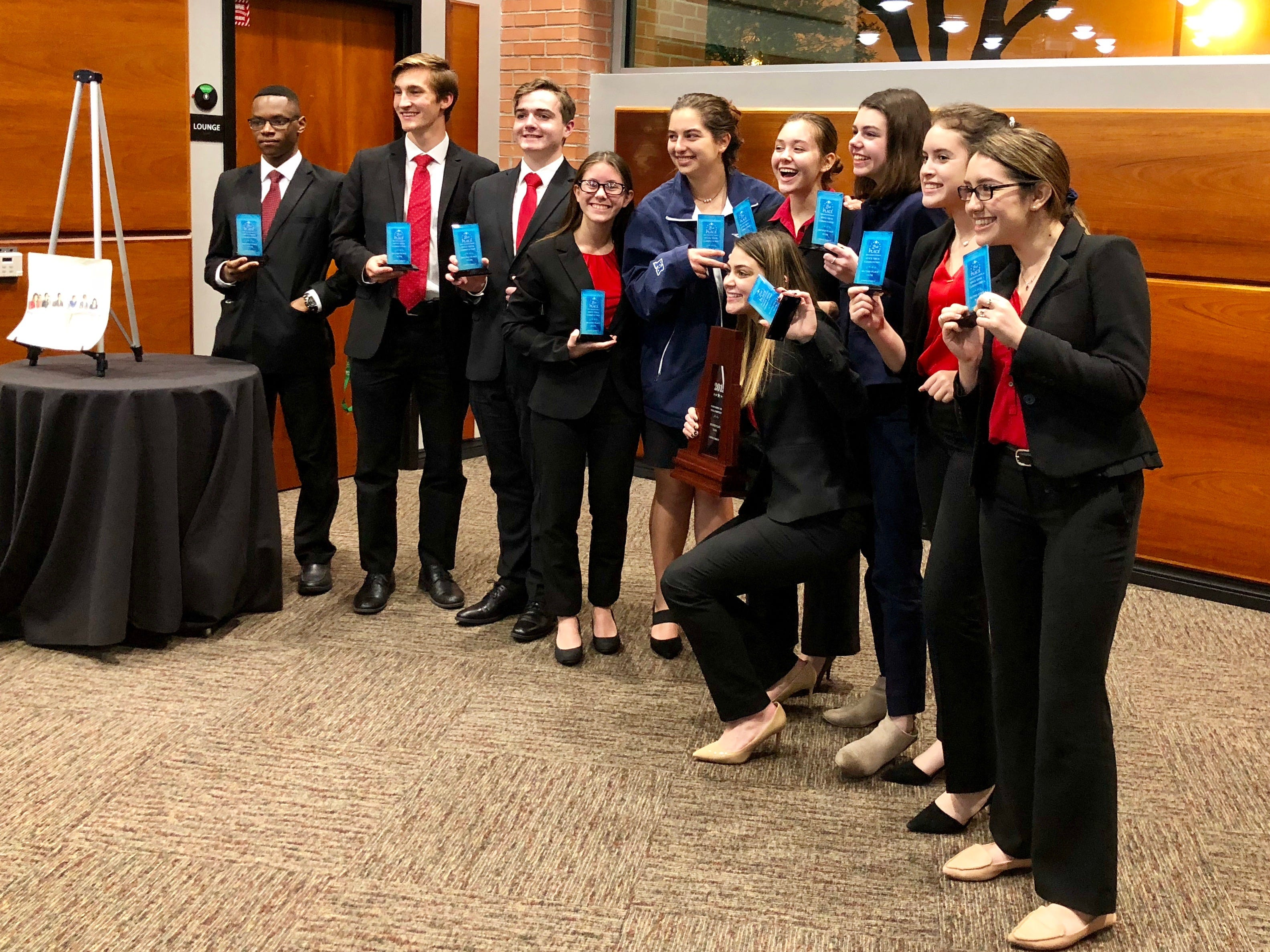 Students from Incarnate World Academy placed second in the 2019 mock trial competition.