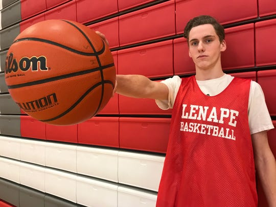 Lenape senior Steve Matlack leads the Indians in scoring and rebounding after missing most of the previous two years with injuries.