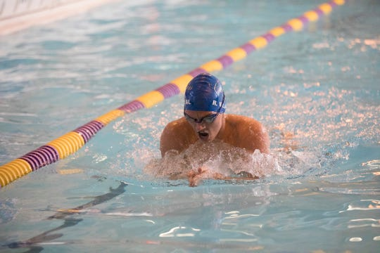 Chillicothe senior Ricky Villarreal took first place in the boys 200-yard individual medley at the 2019 FAC swimming championships on Saturday, Feb. 2, 2019, in Greenfield, Ohio.