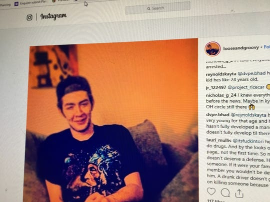 Instagram user looseandgroovy posted a live video Saturday, Feb. 2, 2018 showing a man saying he shot two people who kicked in the door. Police with a loudspeaker stating they are with the Clermont County Sheriff's Office can be heard in the video.