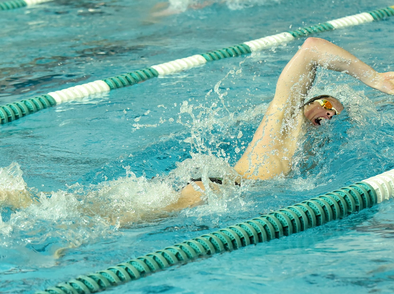 Sycamore's Jake Foster broke the Greater Miami Conference record in the boys 500-yard freestyle at the 2019 Greater Miami Conference swimming championships, Feb. 2, 2019.