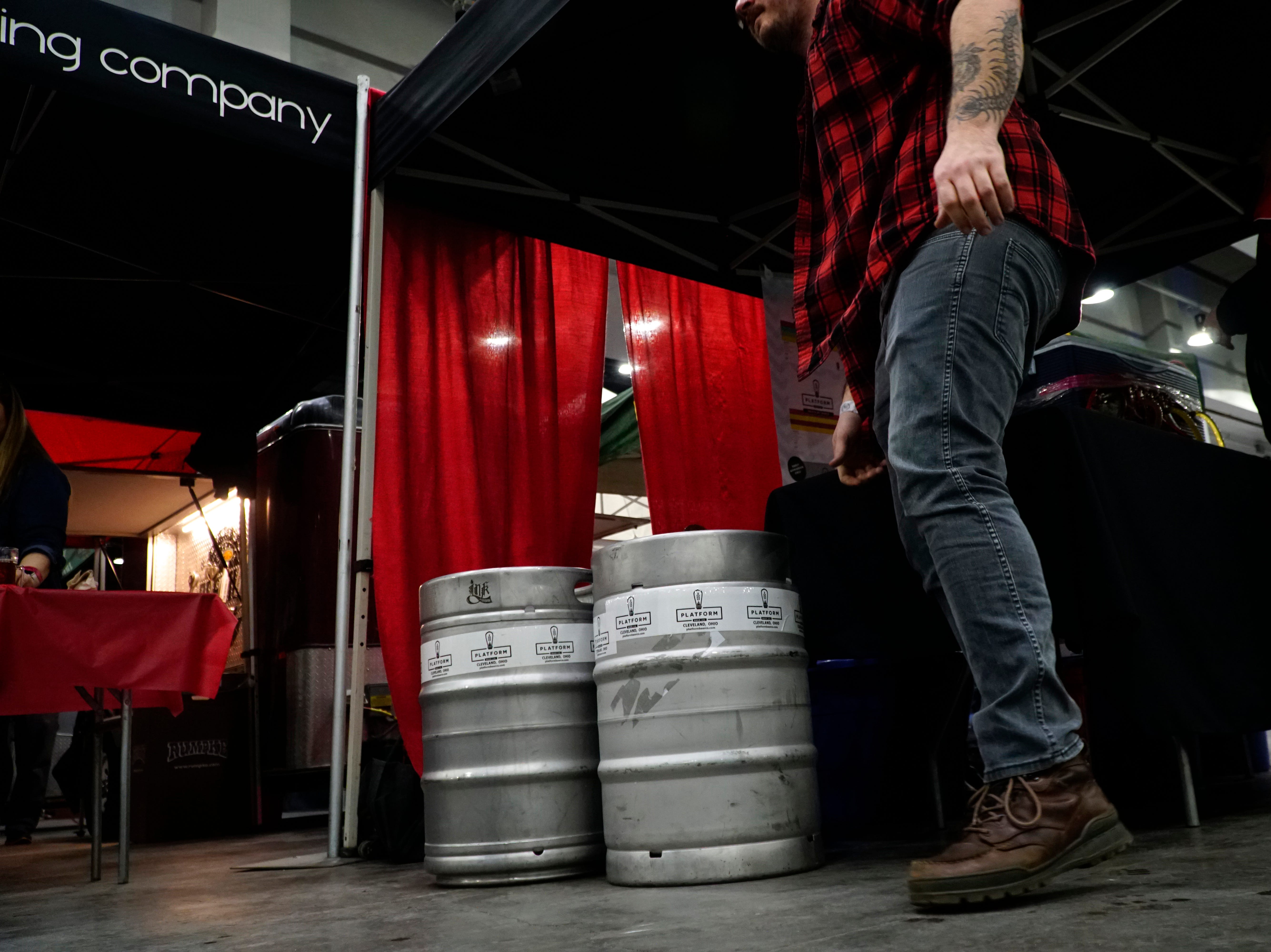 Platform Brewing receives a keg refill at the Cincy Winter Beerfest in the Duke Energy Convention Center, Saturday, Feb. 2nd, 2019.