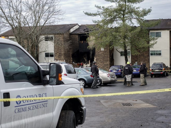 Police and Ohio BCI on on the scene at the Royal Oaks Apartments in Pierce Township, Ohio after a standoff ended, resulting in the death of one Clermont County Sheriff's deputy, Bill Brewer, and the injury of another, Lt. Nick DeRose.