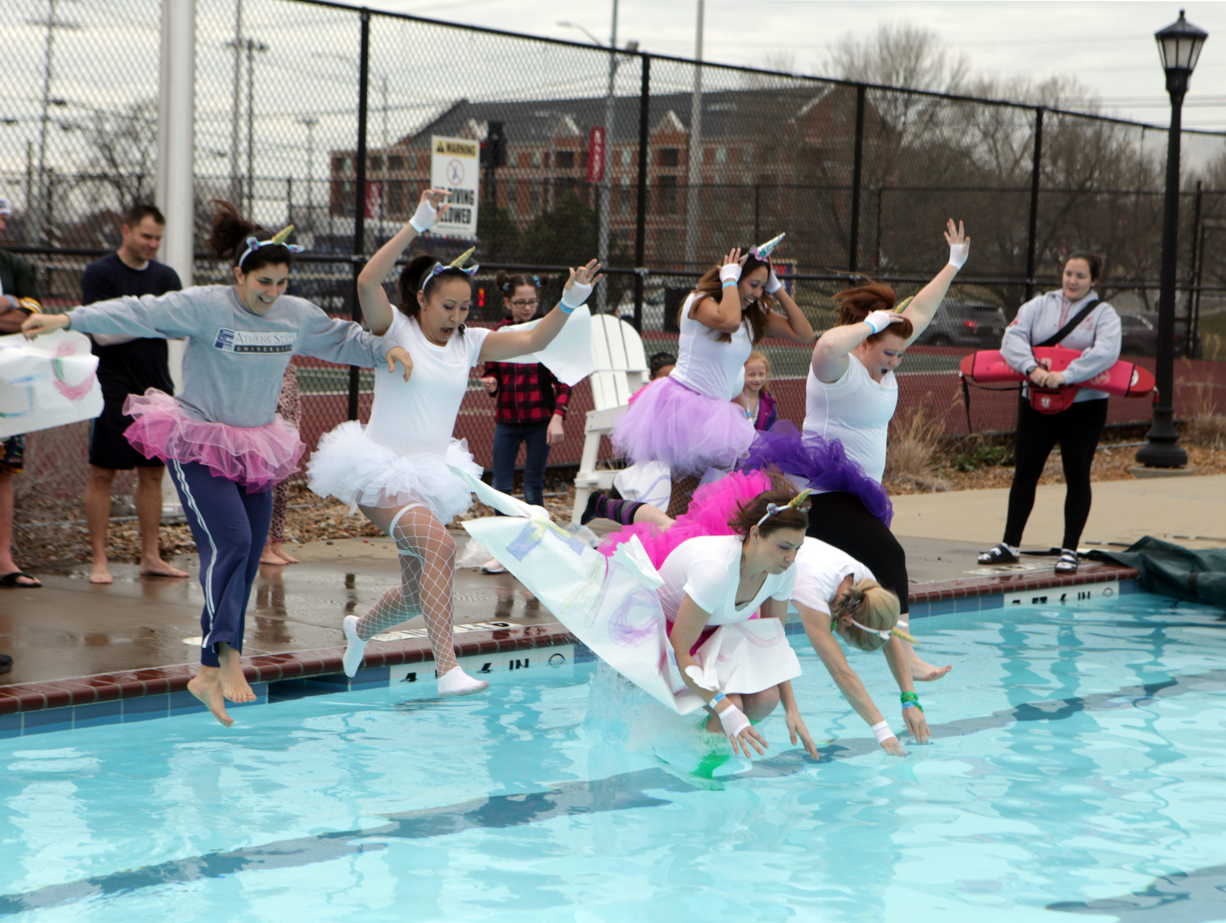 Frozen Unicorns were fearless during the Special Olympics Polar Plunge at APSU on Saturday, Feb. 1, 2019. More than $10,000 was raised at this year's event.