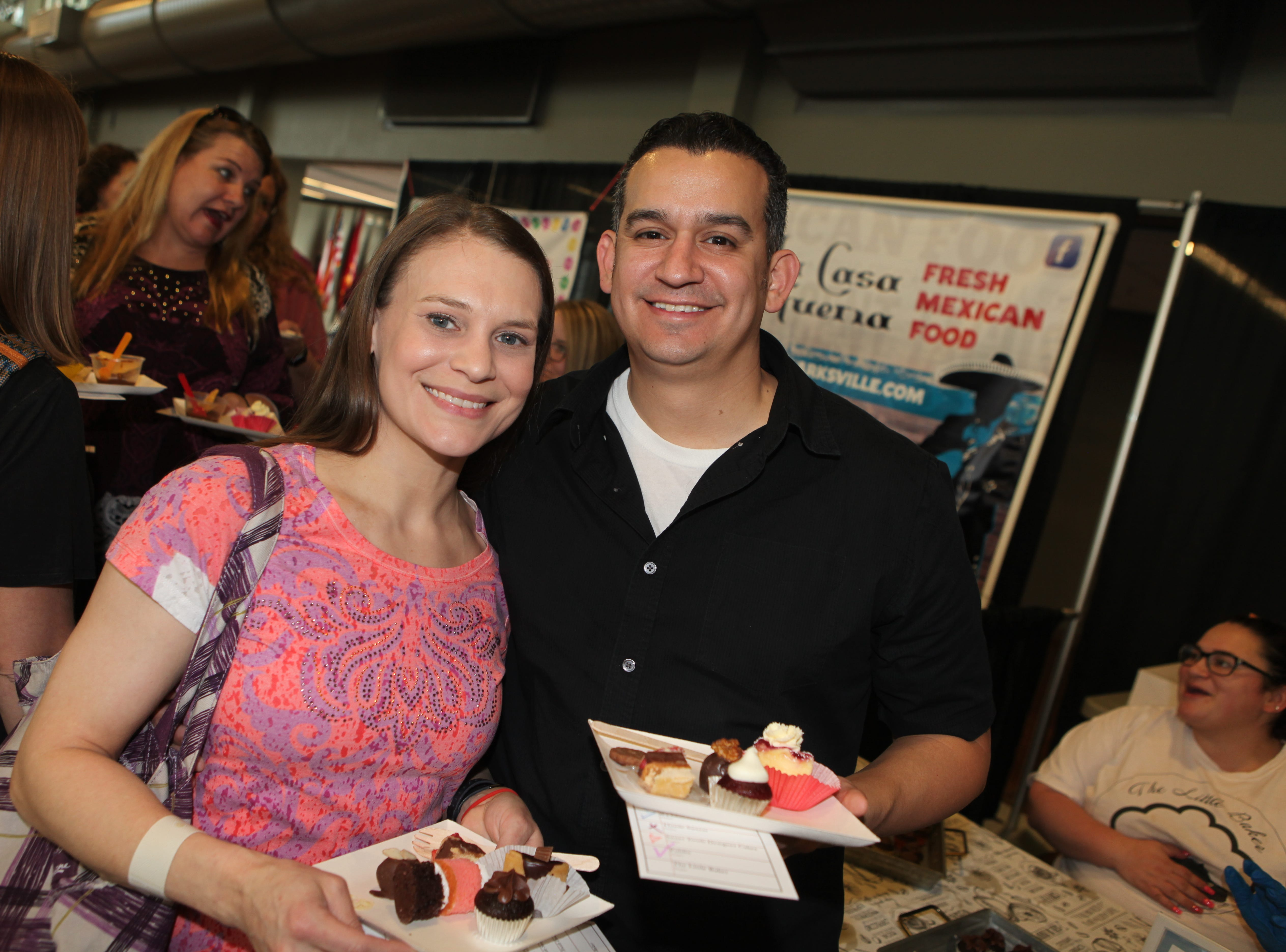 Melissa Glenn and Bobby Morales smile during the 7th Annual Chocolate Affair at Wilma Rudolph Event Center Saturday, February 2, 2019 . The sold-out event saw hundreds of guests enjoying chocolate creations from more than a dozen local and national vendors.