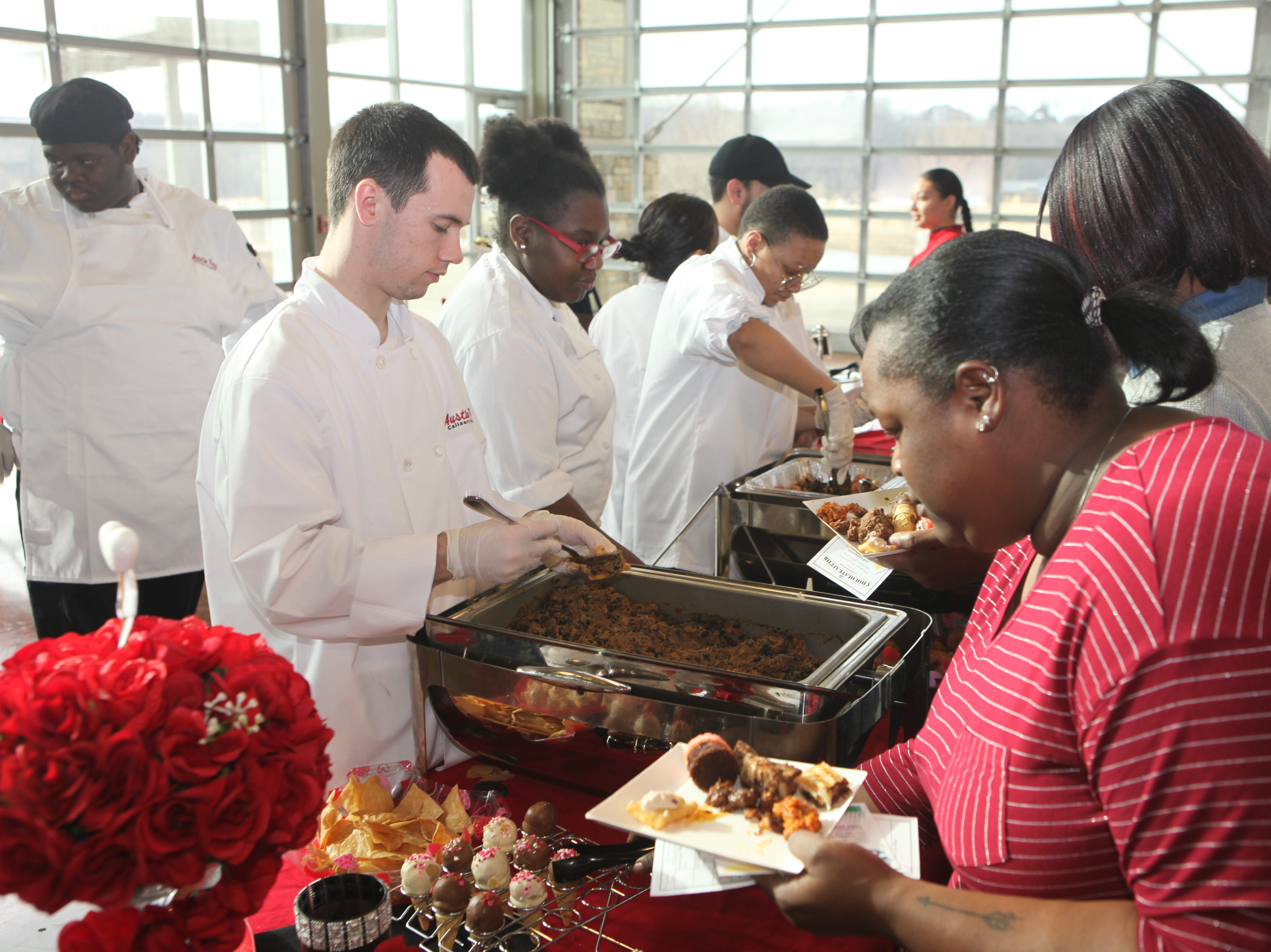 Students from the APSU Culinary Arts Program offered a variety of sweet and savory items during the 7th Annual Chocolate Affair at Wilma Rudolph Event Center Saturday, February 2, 2019 . The sold-out event saw hundreds of guests enjoying chocolate creations from more than a dozen local and national vendors.