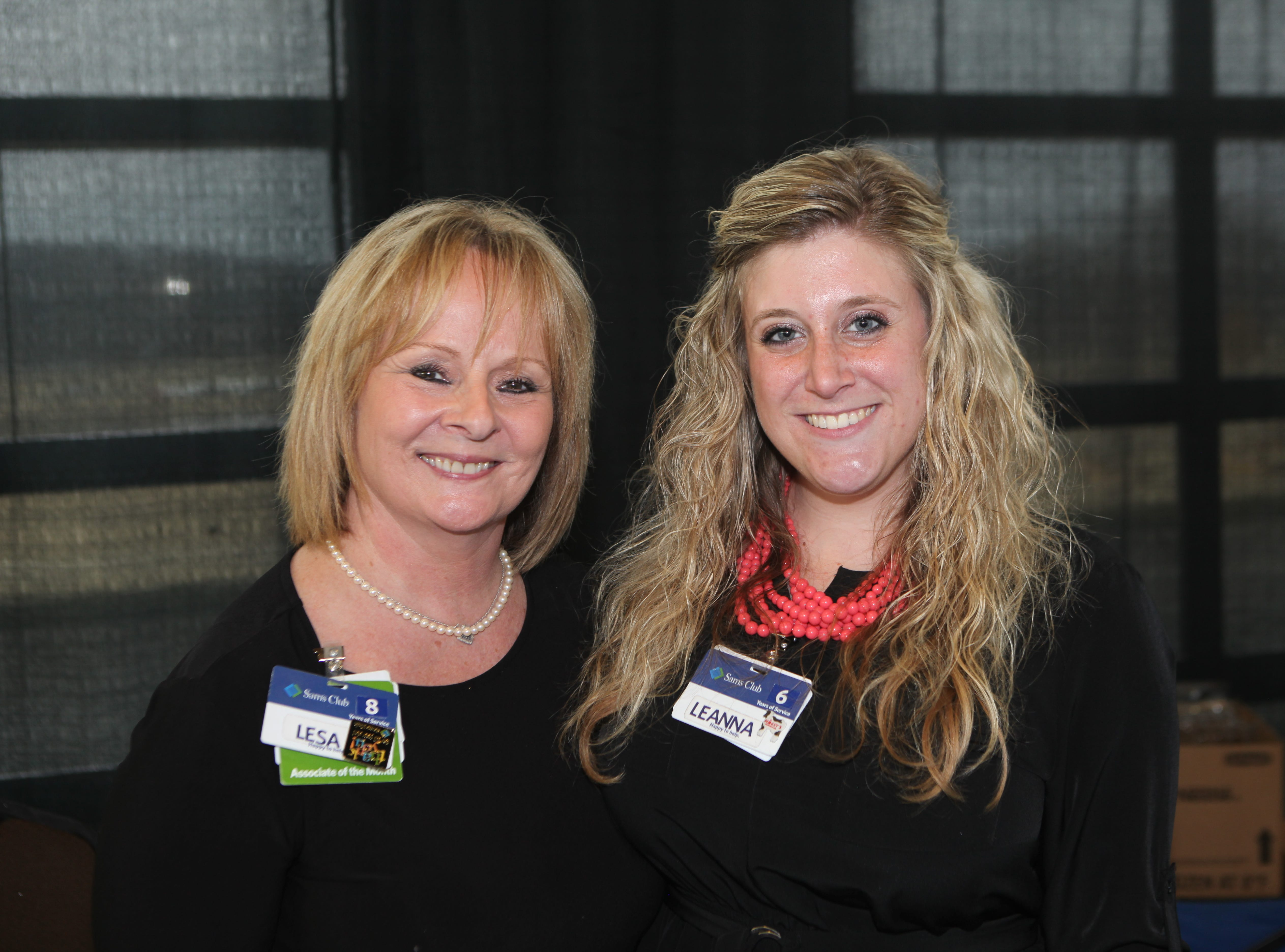 Lesa Rogowitz and Leanna Duckworth representing Sam's Club smile during the 7th Annual Chocolate Affair at Wilma Rudolph Event Center Saturday, February 2, 2019 . The sold-out event saw hundreds of guests enjoying chocolate creations from more than a dozen local and national vendors.