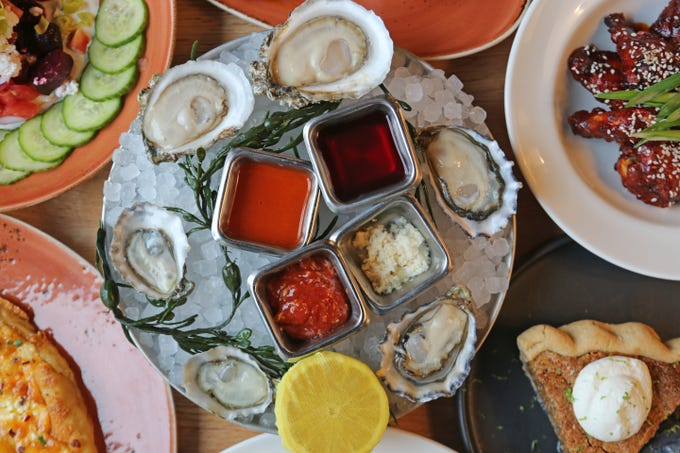 The raw bar at Hazel, Ravines & Downtown in Birmingham is among the best in metro Detroit.
