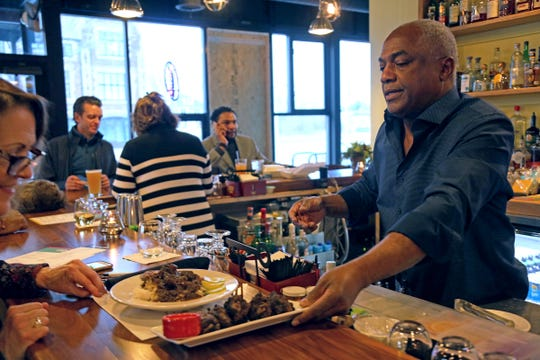 Norma G's proprietor Lester Gouvia opened what's thought to be the first sit-down restaurant in Detroit's Jefferson-Chalmers neighborhood in 30 years.
