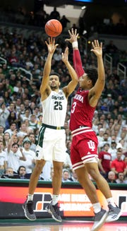 Senior forward Kenny Goins has made 14 of 31 3-point shots (45.2 percent) over Michigan State's past seven games.