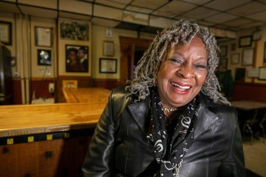 "Motown legend Martha Reeves and old schoolmate of Bert Dearing, of Bert's Entertainment Complex in Eastern Market, shows up to catch some jazz Friday, Jan. 25, 2019. ""It's the closest thing you get to a Motown reunion,"" said Reeves of Bert's Entertainment Complex."
